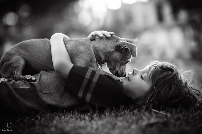 Adorable Photos kids with dog (24)