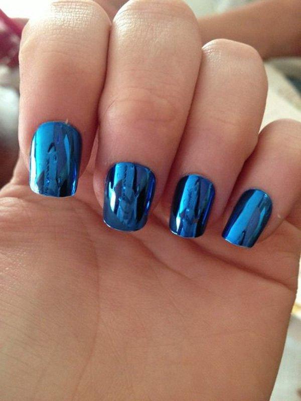 Lovely Metallic Nail Polish Ideas (10)