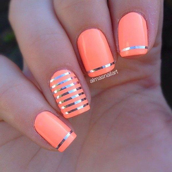 Lovely Metallic Nail Polish Ideas (30)