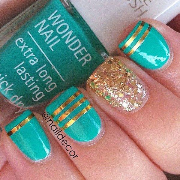 Lovely Metallic Nail Polish Ideas (8)