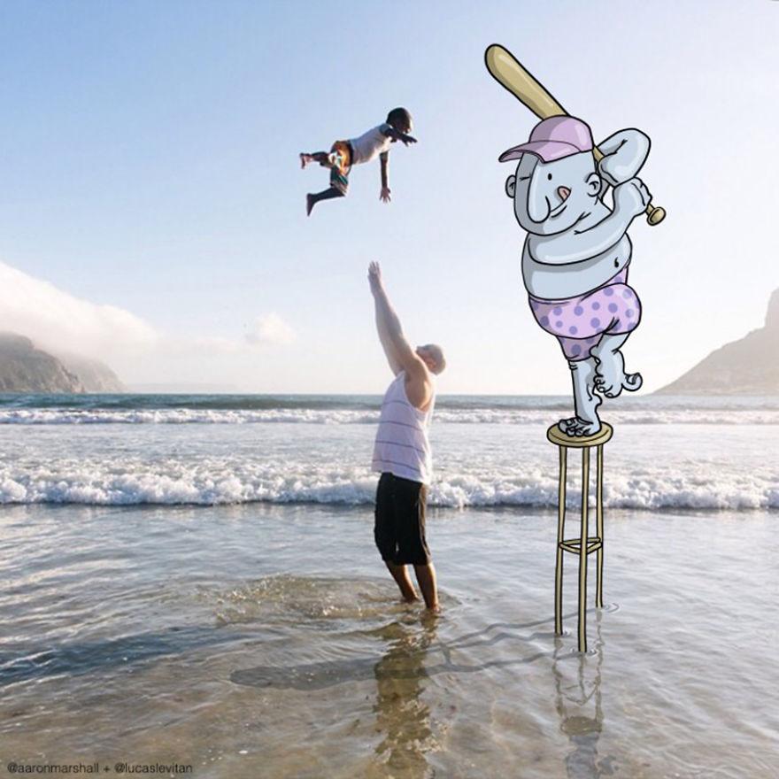 Illustrator Adds Funny Cartoons To Strangers Instagram Photos (10)