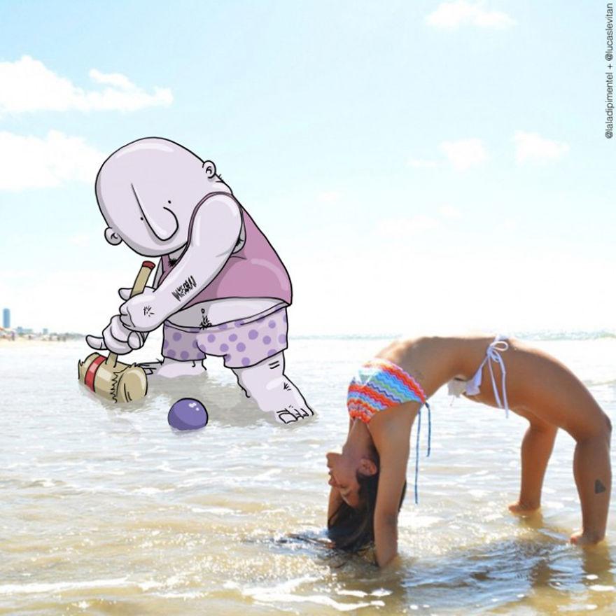 Illustrator Adds Funny Cartoons To Strangers Instagram Photos (7)