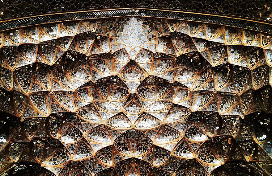mesmerizing mosque ceilings in iran (18)