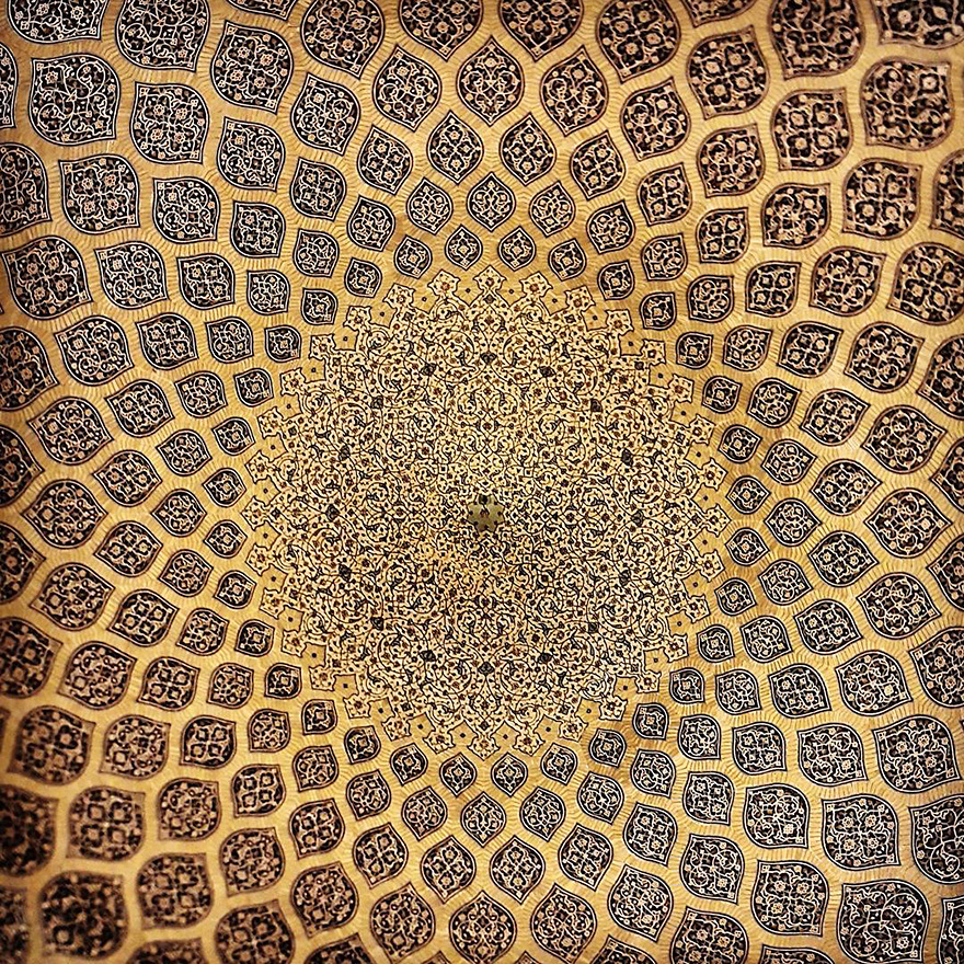 mesmerizing mosque ceilings in iran (4)