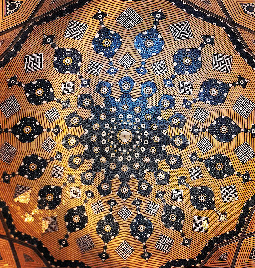 mesmerizing mosque ceilings in iran (5)