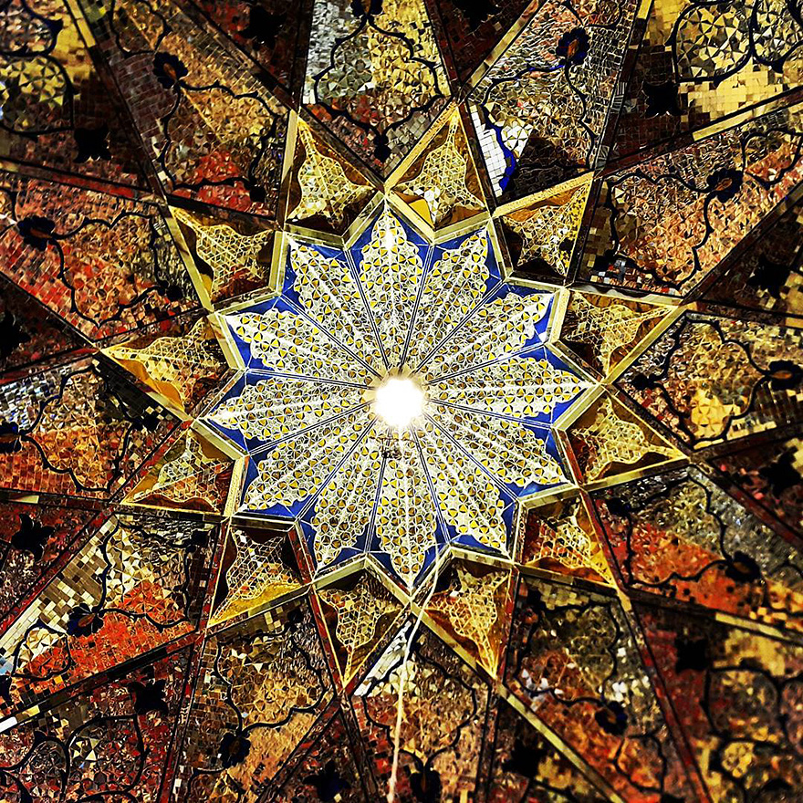 mesmerizing mosque ceilings in iran (6)