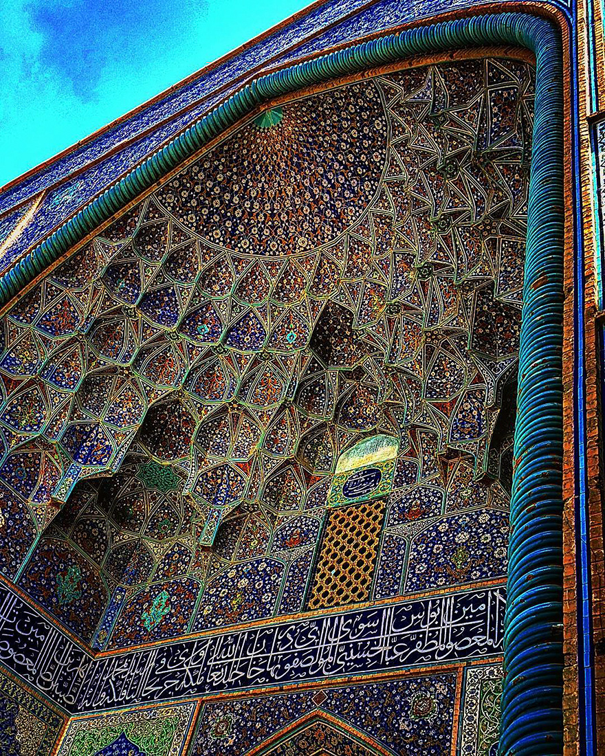 mesmerizing mosque ceilings in iran (9)