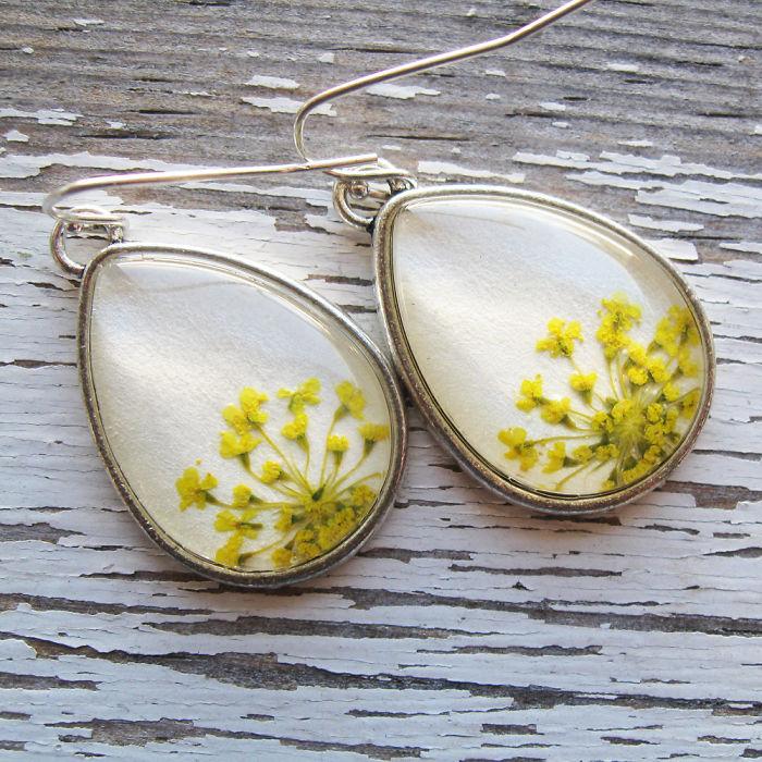 Botanical Flower Jewelry Created By Adrienne Deloe (19)