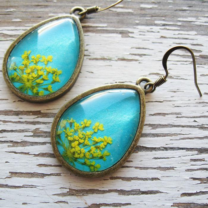 Botanical Flower Jewelry Created By Adrienne Deloe (6)