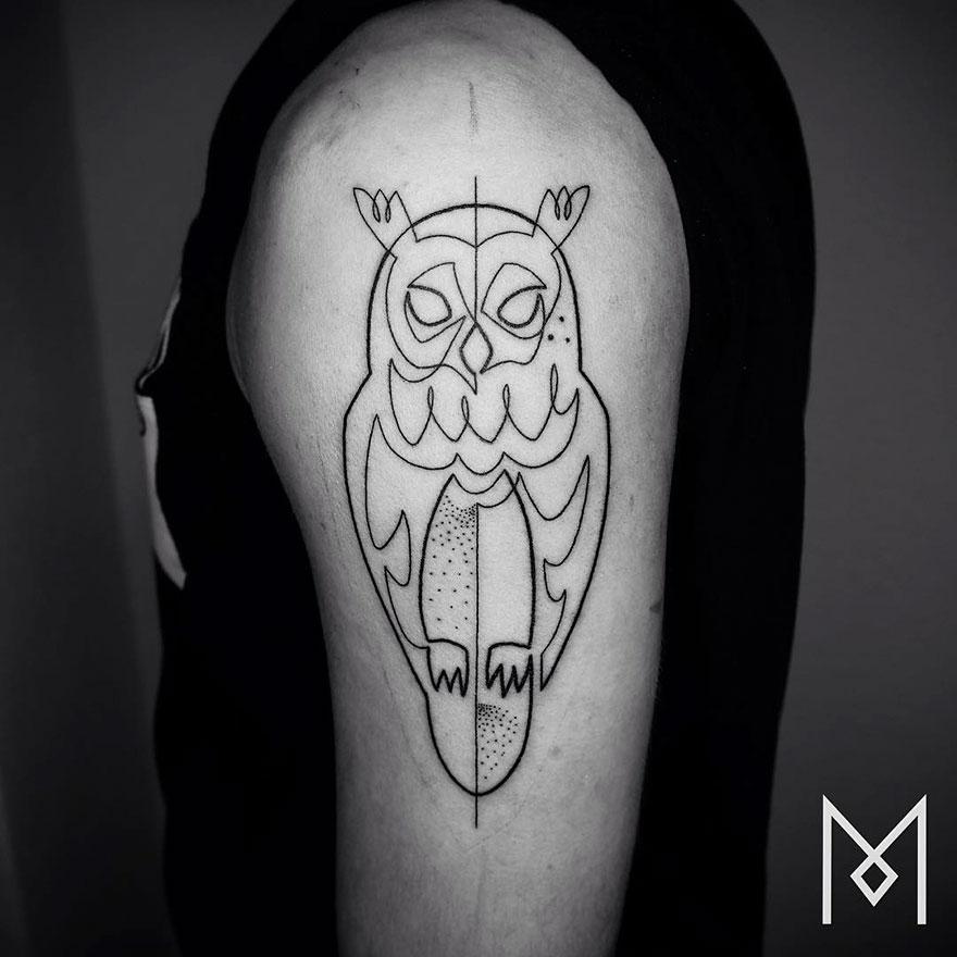 Single Line Tattoos By Iranian-German Artist (18)