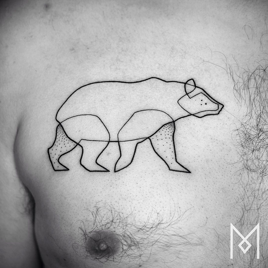 Single Line Tattoos By Iranian-German Artist (19)