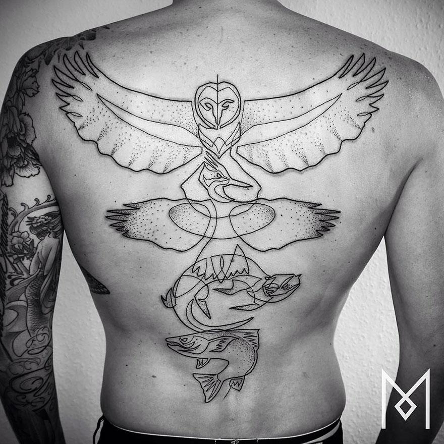 Single Line Tattoos By Iranian-German Artist (25)