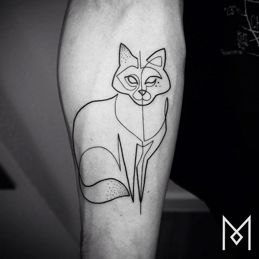 Single Line Tattoos By Iranian-German Artist (26)
