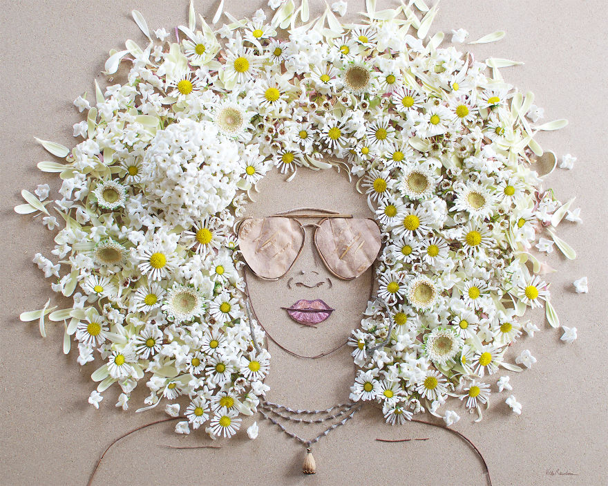 Create Intricate Portraits Out Of Mother Nature Using Twigs And Flowers (10)