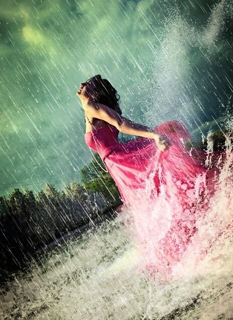 Pretty Girls Images In Rain  Great Inspire-9714