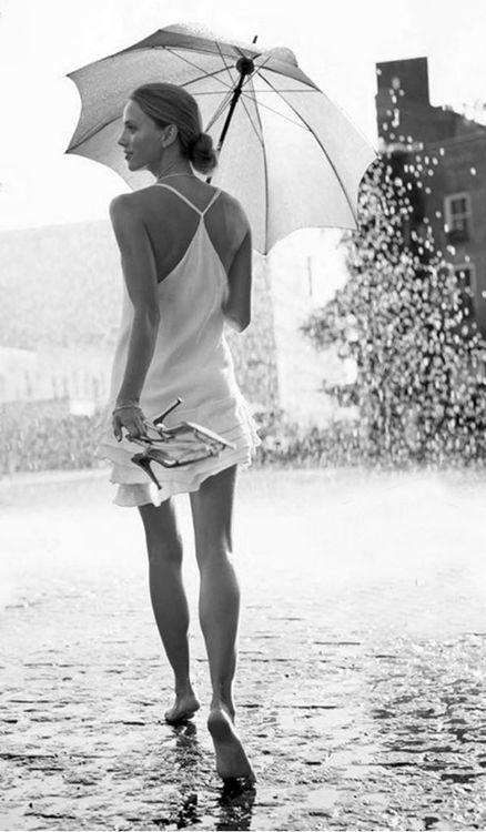 Pretty Girls Images In Rain (2)