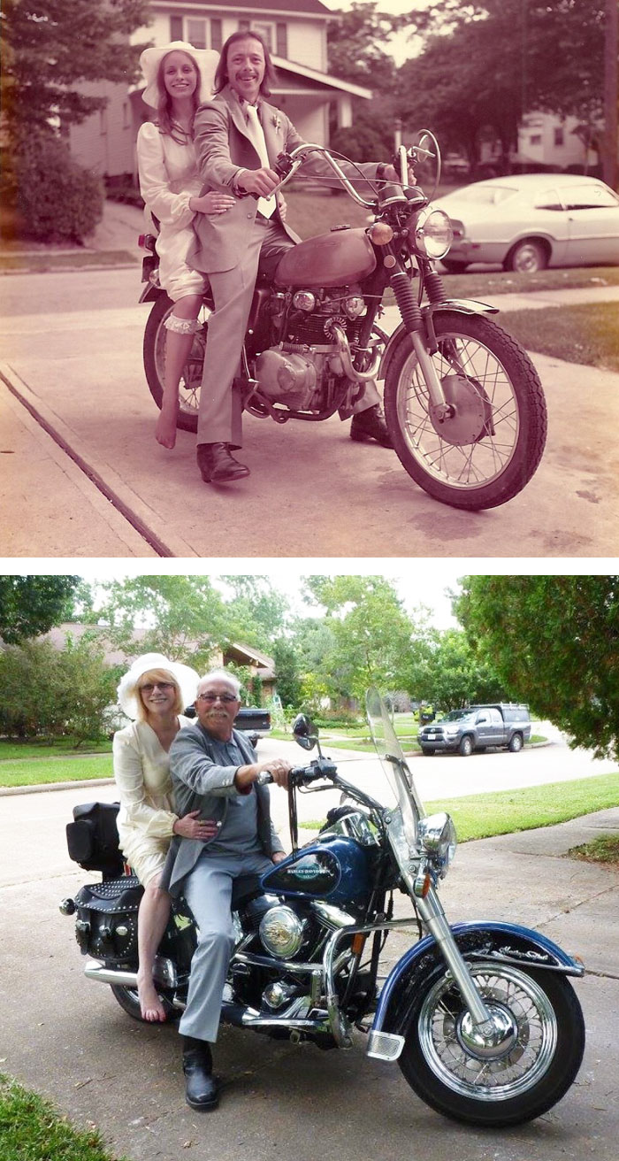 True Love Couples Recreating Their Old Photos (13)