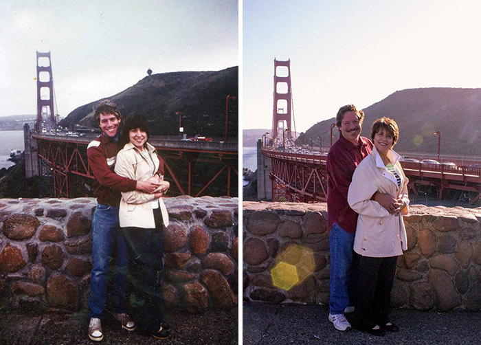 True Love Couples Recreating Their Old Photos (24)