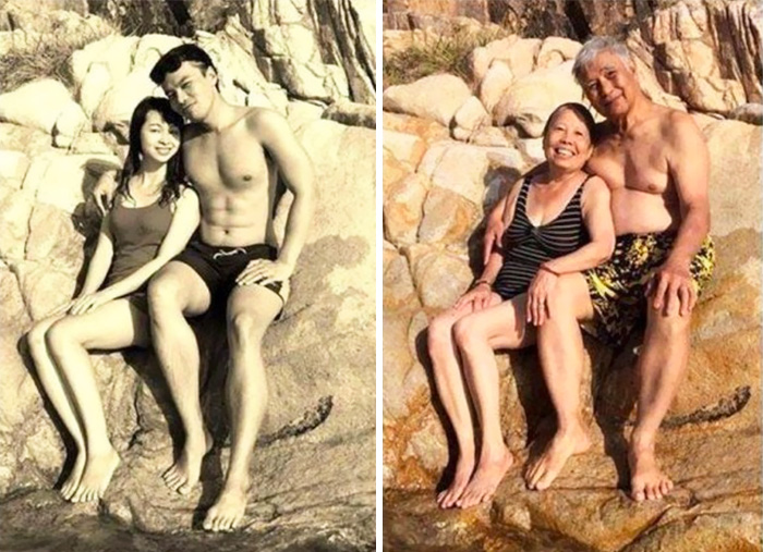 True Love Couples Recreating Their Old Photos (4)