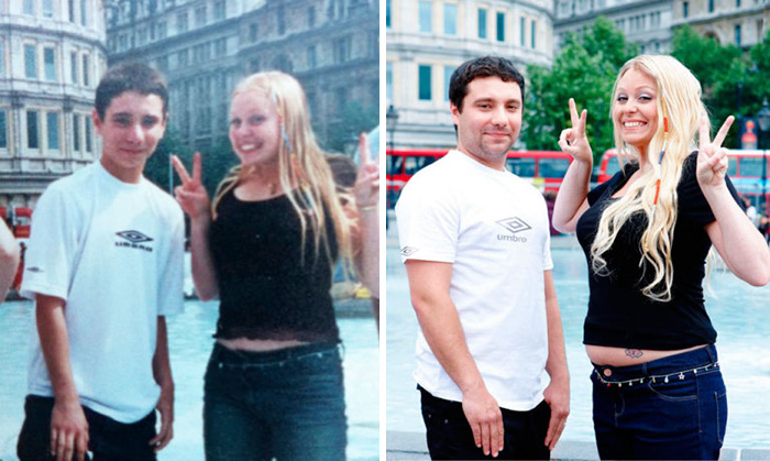True Love Couples Recreating Their Old Photos (5)