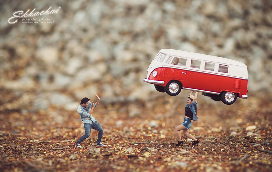 Clever Wedding Photographer Turns Couples Into Miniature People (11)