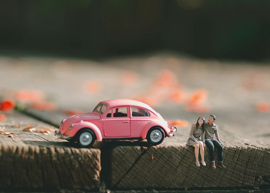 Clever Wedding Photographer Turns Couples Into Miniature People (13)
