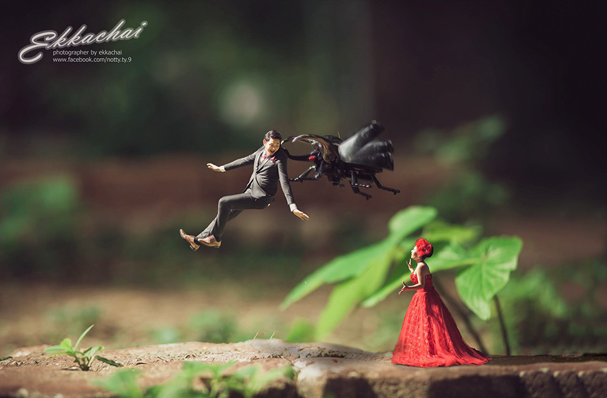 Clever Wedding Photographer Turns Couples Into Miniature People (14)