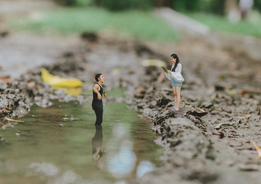 Clever Wedding Photographer Turns Couples Into Miniature People (24)