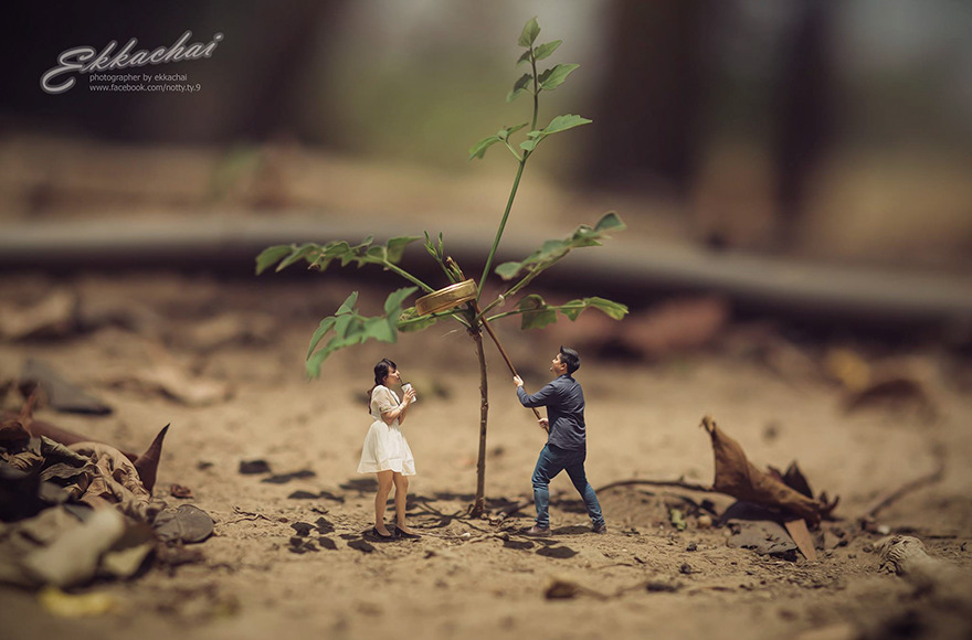 Clever Wedding Photographer Turns Couples Into Miniature People (25)