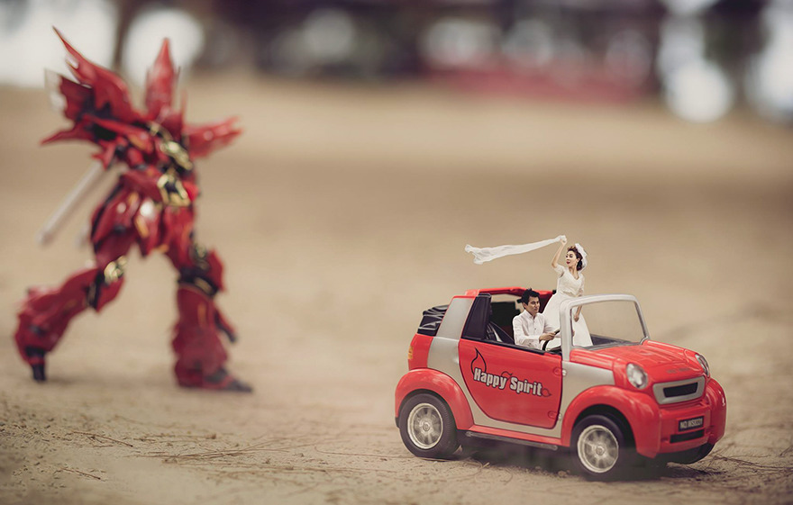 Clever Wedding Photographer Turns Couples Into Miniature People (27)