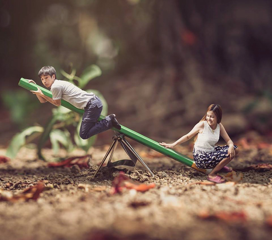 Clever Wedding Photographer Turns Couples Into Miniature People (28)