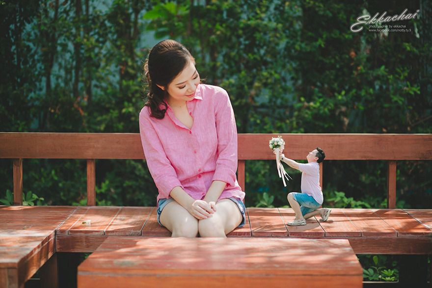 Clever Wedding Photographer Turns Couples Into Miniature People (7)
