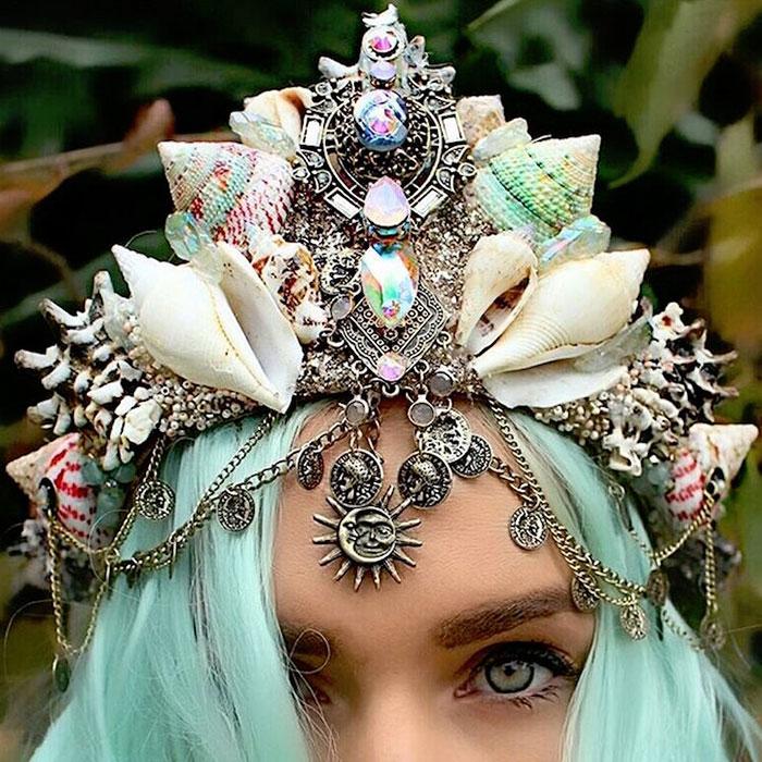Mermaid Crowns With Real Seashells Photos (15)