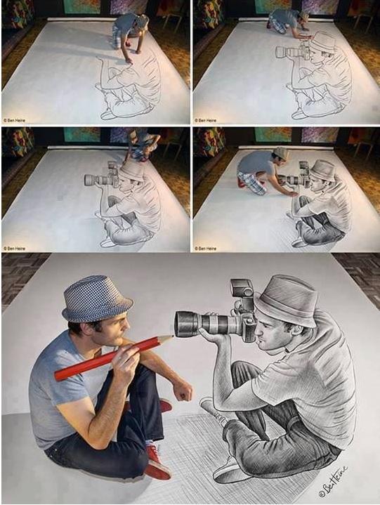 Stunning 3D Pencil Drawings