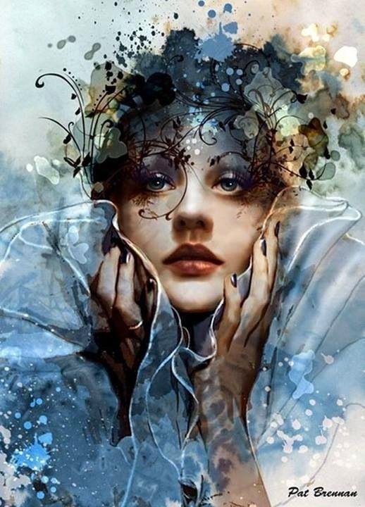 Stylish Girls Portraits Art By Pino Daeni
