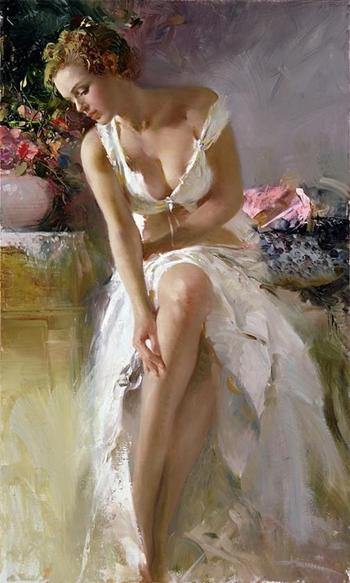 Stylish Girls Portraits Art By Pino Daeni (5)