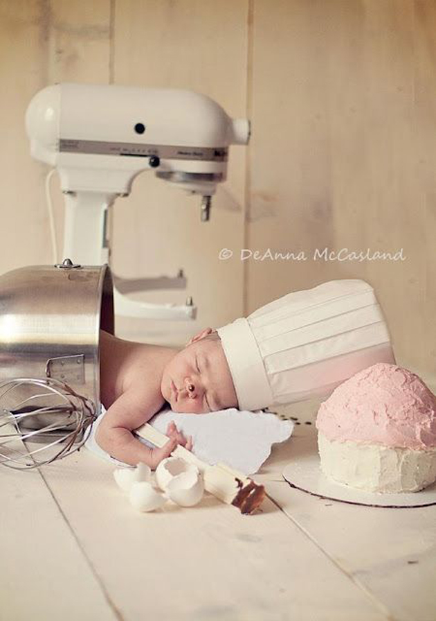 Cute Little Baby Chef Photography (17)