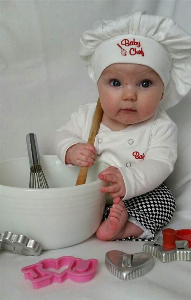 Cute Little Baby Chef Photography (19)