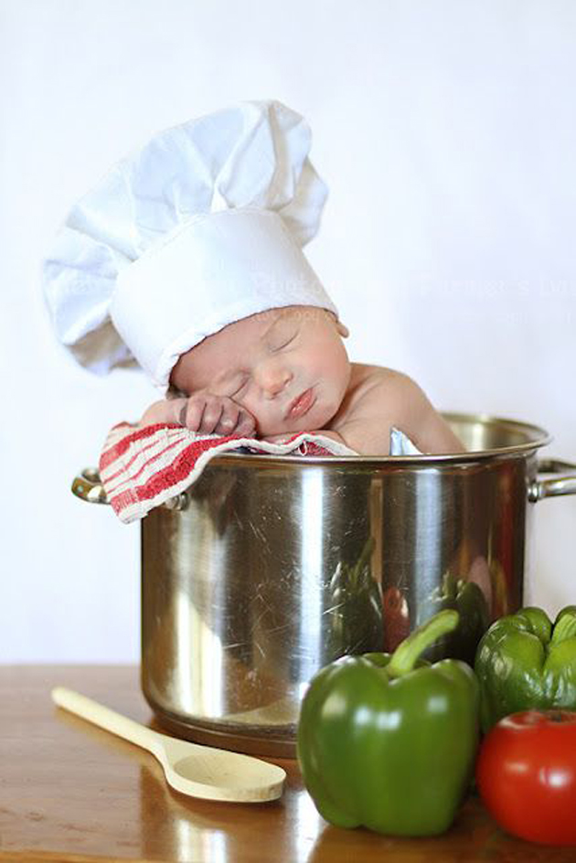 Cute Little Baby Chef Photography (3)