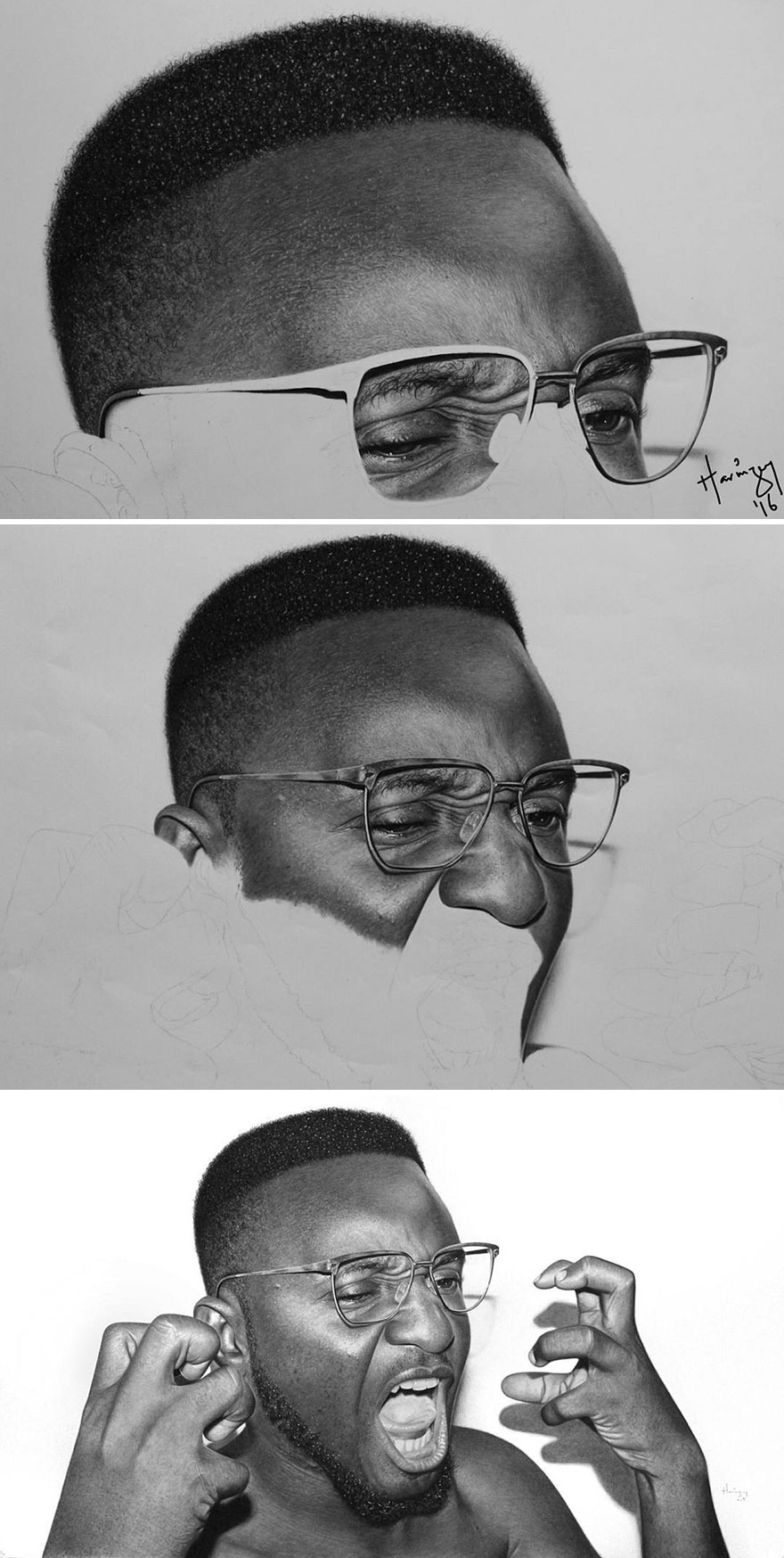 Unbelievably Realistic Pencil Portraits By Nigerian Artist (10)