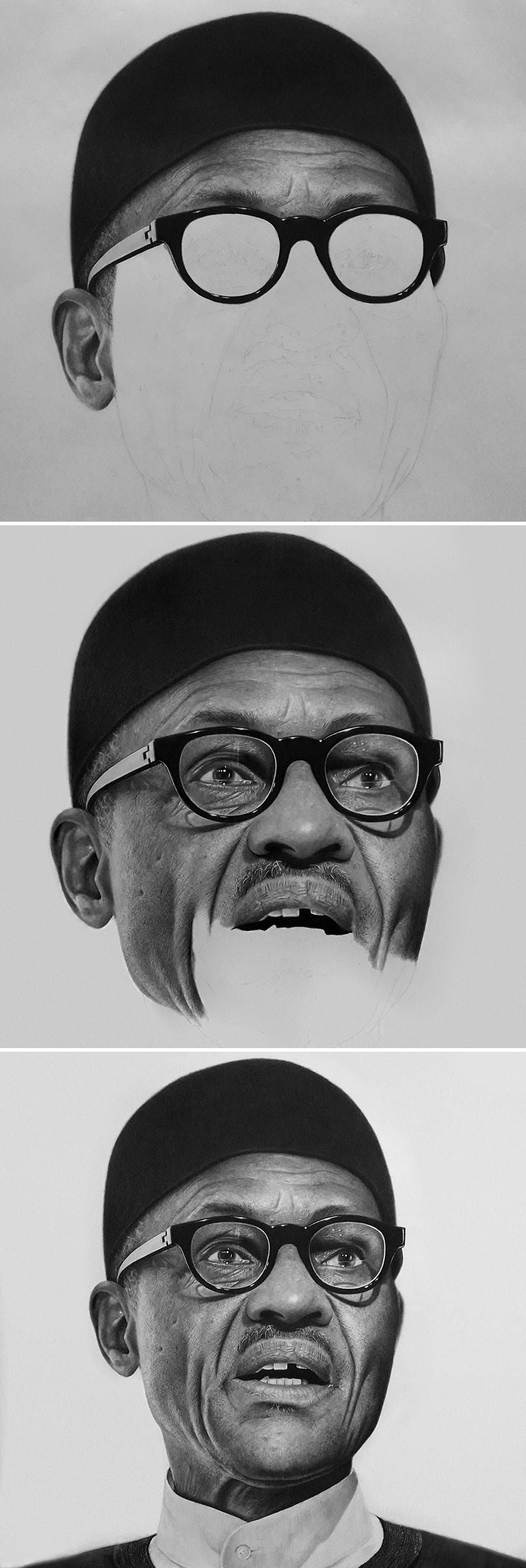 Unbelievably Realistic Pencil Portraits By Nigerian Artist (3)