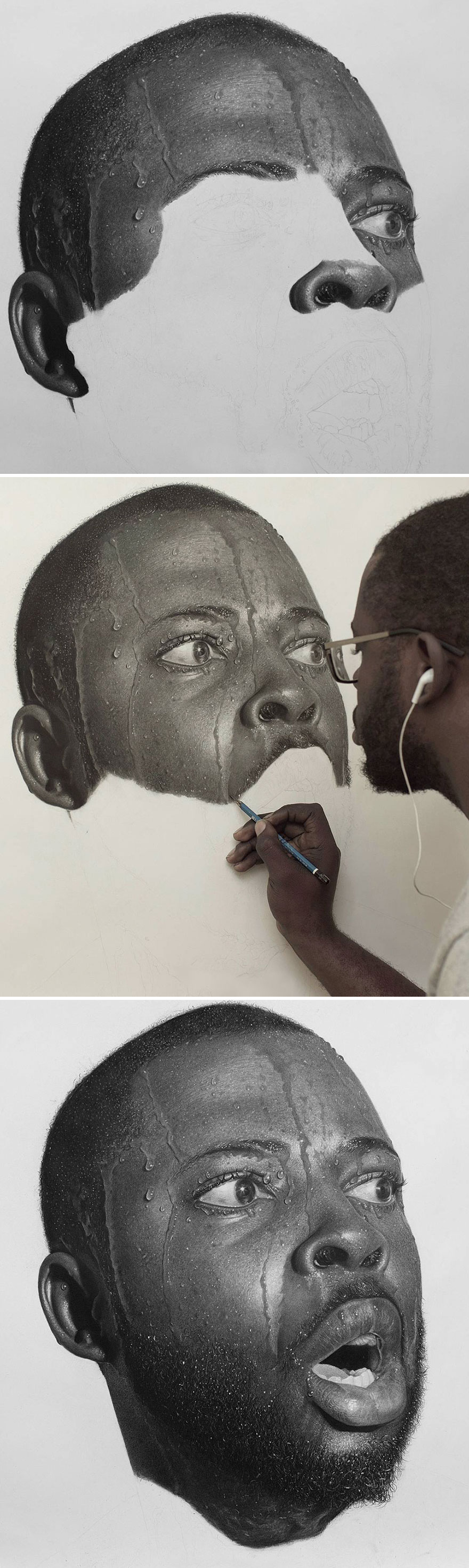 Unbelievably Realistic Pencil Portraits By Nigerian Artist (7)
