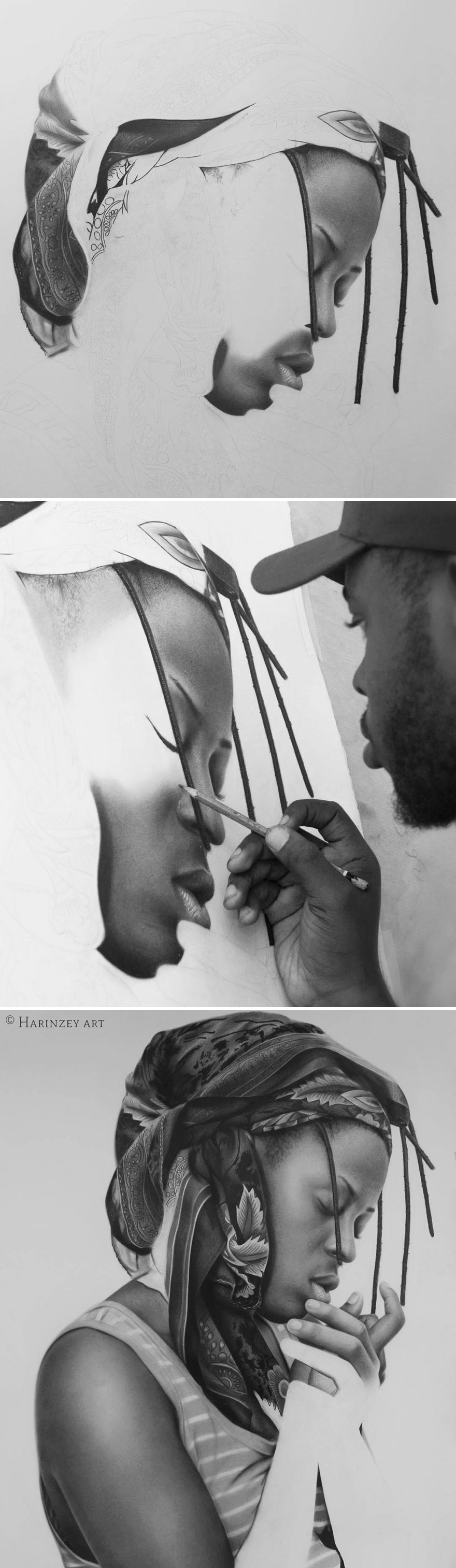 Unbelievably Realistic Pencil Portraits By Nigerian Artist (9)