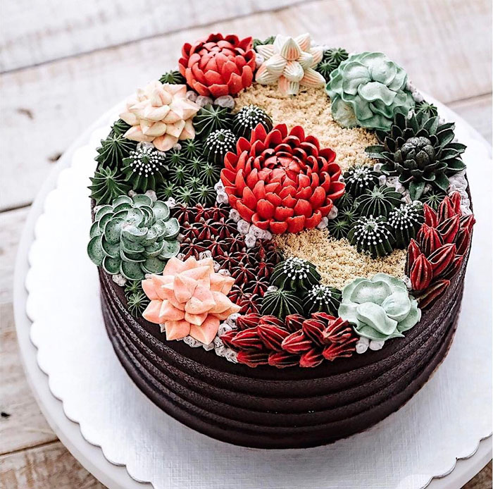 Yummy Blooming Flower Cakes (15)