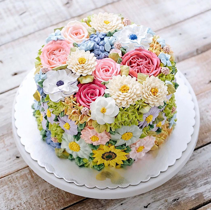 Yummy Blooming Flower Cakes (16)