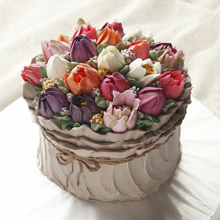 Yummy Blooming Flower Cakes (3)