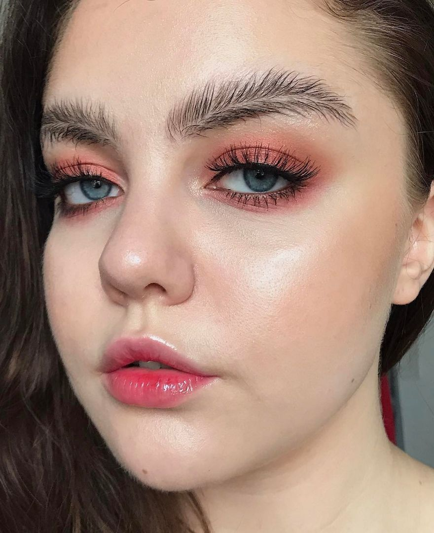 Newest Trend Feather Eyebrow Images (4)